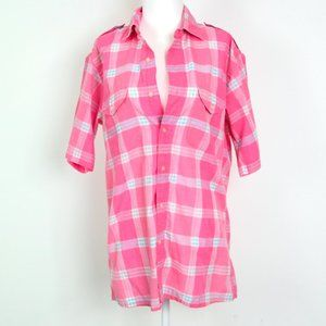 DIOR Casual Plaid Top